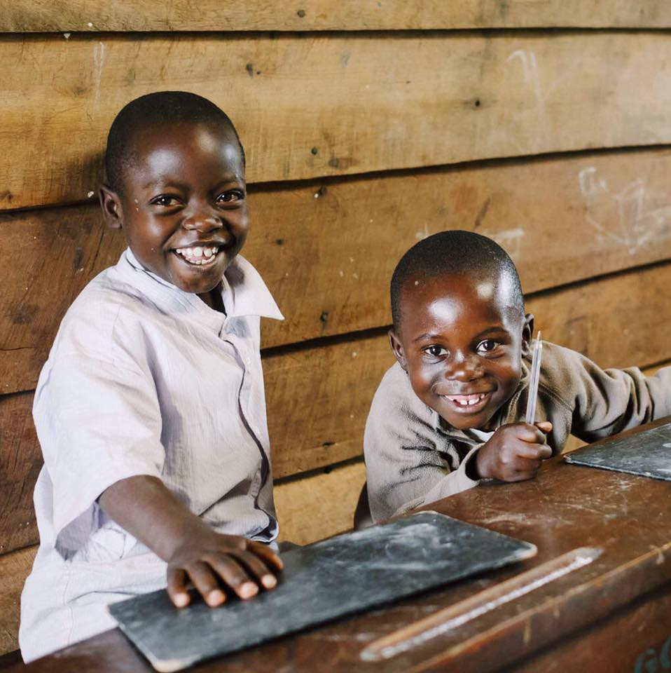 Students at Justice Rising school in Congo