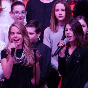 girls singing in choir